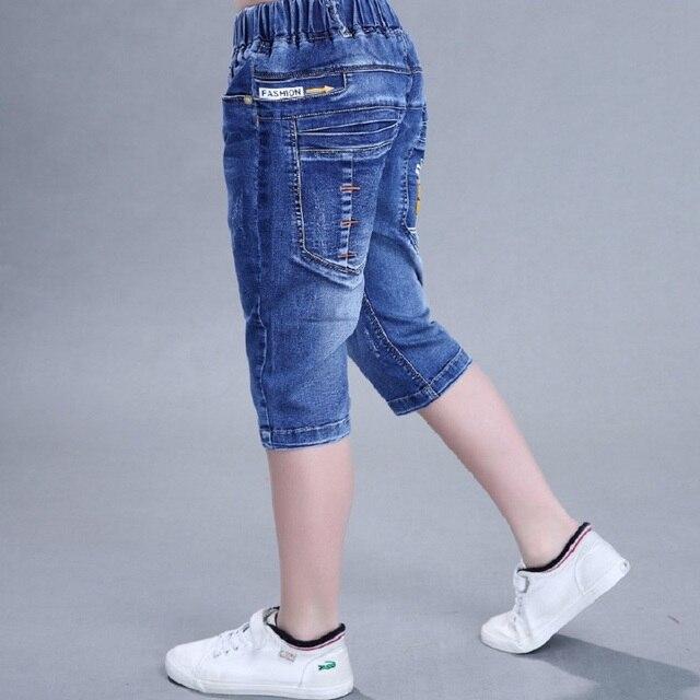 2016 новый летний мальчик джинсы хлопок джинсовые короткие джинсы для мальчиков брюки детские летние шорты мальчики лето одежда 16731
