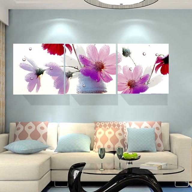 No Frame Résumé Fleur Rose Pas Cher Moderne Peintures Toile Art ...