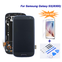 LCD Display For Samsung Galaxy SIII I9300 LCD Touch Screen Display Digitizer Assembly Frame For Samsung