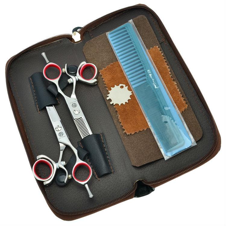 5.5 6.0 Professional Hair Scissors Set 360 Degree Rotate Salon Hair Cutting Scissors Thinning Shears, LZS0443 30 teeth thinning scissors thinning shears japan quaity 6 thinning scissors for hair salon s styling use