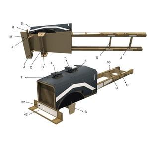 Image 5 - FAI DA TE di Carta Modello di Mad Max War Rig 1:25 Papercraft FAI DA TE Assemblare Fatti A Mano Di Puzzle Gioco Educativo Giocattolo