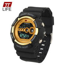 TTLIFE New Male Fashion Sports Military Wristwatch LED Analog Digital Watch Men Dress Electronic Clock Relogio Masculino TS18