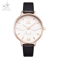 Shengke Fashion Women Watch Luxury Brand Leather Strap Watch Women Dress Watch Casual Quartz Watch Reloj