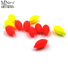 MNFT 100Pcs Oval Mini Fishing Float Bobber Rig Making Fishing Floating Beans Red/Yellow Striking Beads With Hole No Stopper 3 4#