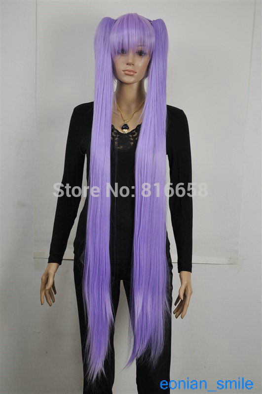 Purple Extra Long Straight Cosplay Lolita Lori Split Wig Ponytail TLD505