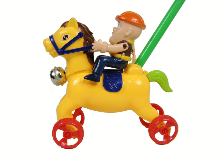 Push Toys For Toddlers : Push pushed horse riding toddler toys the bell toy for children