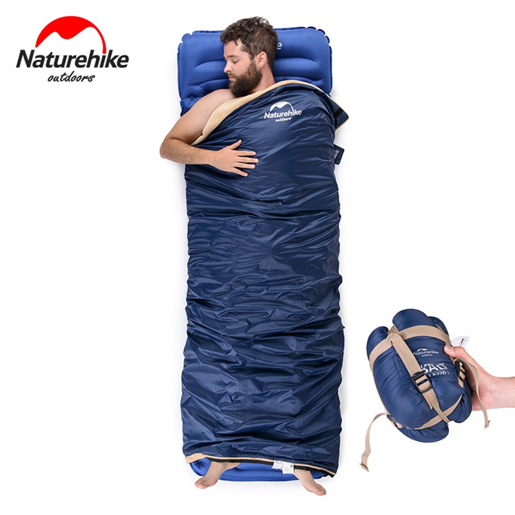 New Naturehike Autumn Winter Waterproof Sleeping Bag Warm Coral Velvet Outdoor Hiking Camping Envelope Ultralight Sleeping Bag naturehike 190 75cm coral velvet envelope sleeping bag ultralight for hiking camping traveling nh17s015 s