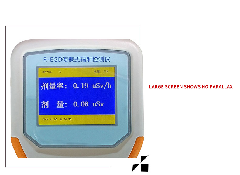 dosímetro radioatividade R-EGD portátil contendo imposto