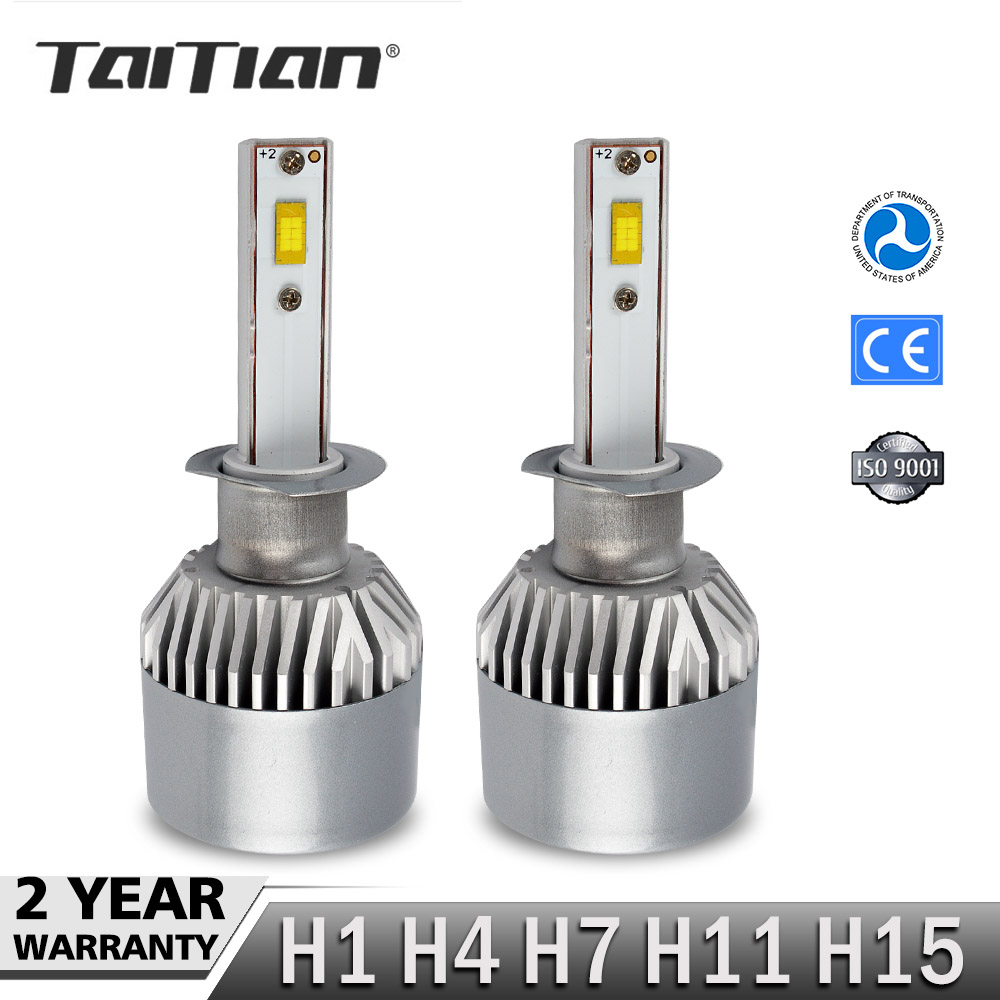 Taitian 2Pcs SMD 144W 15200LM 6000K 12V h1 bulb auto h4 lamp h7 canbus led H15 Car Led Headlight Kit H11 Fog light for bmw e30 2pcs lot 80 watt led xenon blanc h7 led 80w canbus 80 watt viel heller wie 60w 50w 55w anti brouillard auto car fog led