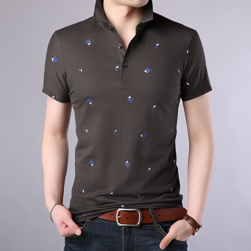 ARCSINX Print   Polo   Shirt Men Large Size Summer Short Sleeve Mens   Polo   Shirts Fashion Turn-down Collar Brand Cotton Tee Shirt Men