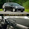 Coche dashmats car-styling accesorios cubierta del tablero de instrumentos para Toyota Wish ae10 2003 2004 2005 2006 2007 2008 2009