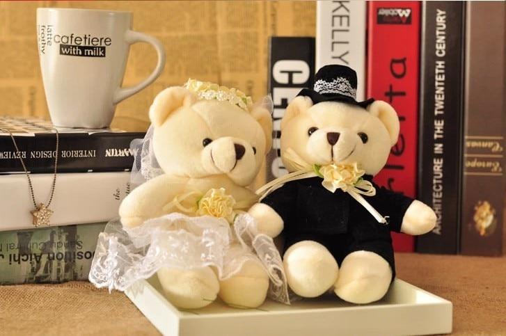 40cm bride and bridegroom wedding teddy bear wedding souvenirs plush toy,couple wedding gift/wedding accessories  cele goldsmith lalli modern bride® wedding celebrations