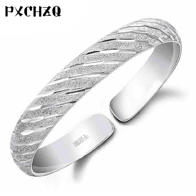 Fashion popular female models matte silver color bracelet classic retro meteor shower opening bracelet jewelry gifts