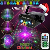 Chims RGB Stage Light Party Laser Light 96 Pattern Laser Projector Led Colorful DJ Music Xmas Disco Light Show Dance DJ Club Bar