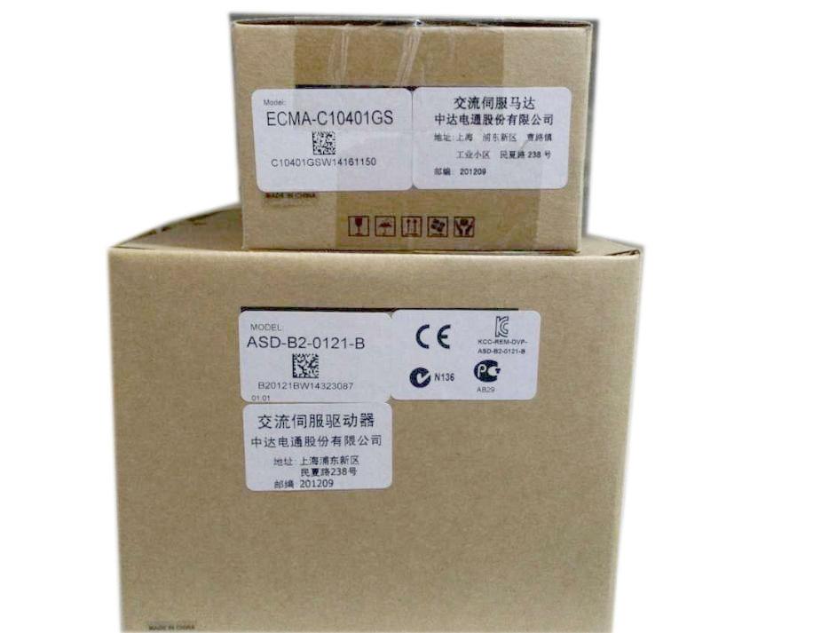 ECMA-C10401GS ASD-A2-0121-M AC Servo Motor & Drive kits 100W 3000r/min ECMA-C10401GS + ASD-A2-0121-M new original detla servo driver ecma ca0602ss asd a2 seria