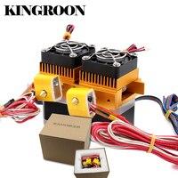 MK8 Kép Đầu Đùn 12V40W 3D Máy In Phần Vòi Phun 0.3 mét 0.4 mét Đôi Hotend Đùn 1.75 mét Filament với động cơ Quạt Phần