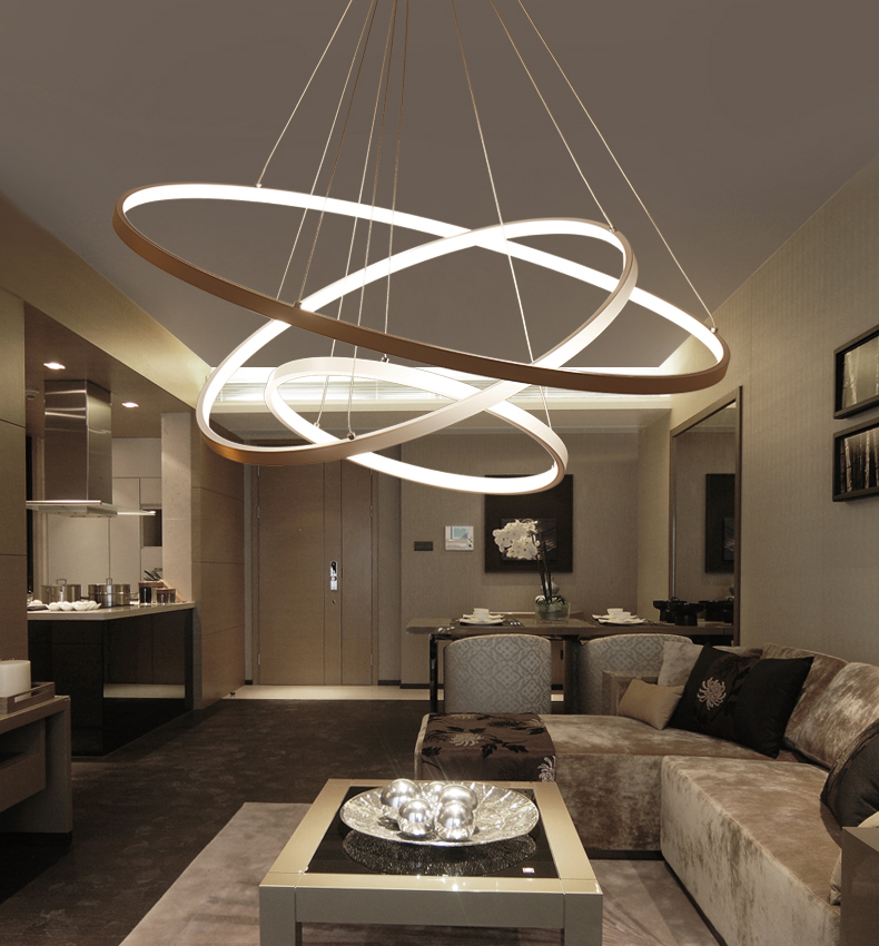 HTB1h0rbAb5YBuNjSspoq6zeNFXaa 60CM 80CM 100CM Modern Pendant Lights For Living Room Dining Room Circle Rings Acrylic Aluminum Body LED Ceiling Lamp Fixtures