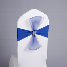 spandex wedding chair sashes decoration band 100pcs/lot Free Shipping