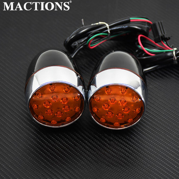 Black matte Leds Motorcycle Front Back Turn Signal Light For Harley Touring ,Dyna, Softail , Sportster