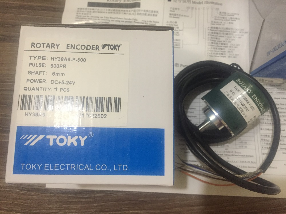 East Kawasaki TOKY encoder new version HY38A6-P-500 replace of HY38A6-P4AR-500 genuine toky east tek te7 series te7 sb10w temperature controller
