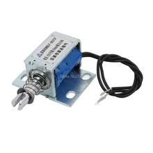 цена на JF-0837ZP DC 12V 10MM 0.8N Push Type Open Frame Solenoid Electromagnet