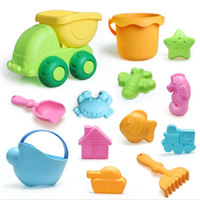 13pcs Beach Toys Sets Playing Bucket Shovel Kettle Kids Outdoor Toy ABS