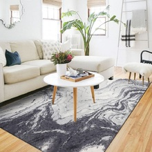 Modern minimalist Nordic abstract art new Chinese black ink bedroom mat Door living room non-slip carpet custom made plush rug