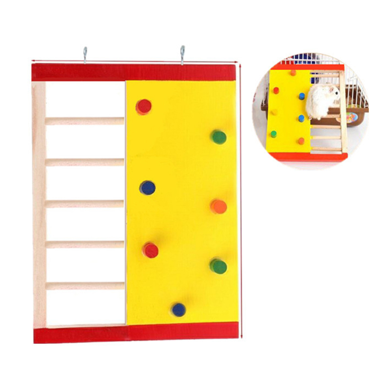 1 Pcs High Quality New Natural Wooden Hamster Climbing Ladder Hamster Accessories Hamster Climbling Toy Pet Funning Accessories