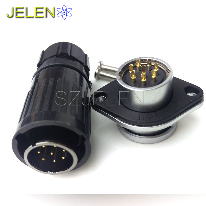 HE20, 8pin Waterproof Connector, industrial cable wire connector, automotive wiring connectors,  8 pin led cable connector weipu ws16 industrial connectors 2 pin high voltage connector plug socket industrial power connector 2 pin cable connector