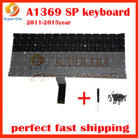 10pcs Lot New A1466 For Macbook Air 13 A1369 A1466 Sp Spanish Keyboard Without Backlight 2011