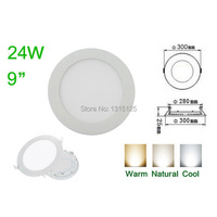 LED Panel Lights Round LED Ceiling Light 24W LED Panel Lamp Down Lamp For Home Warm