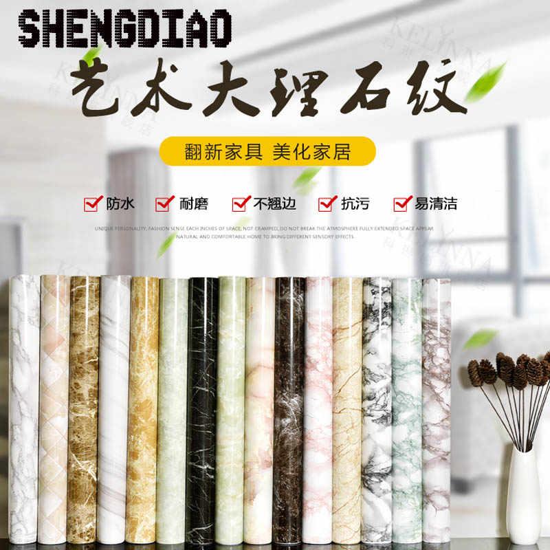 Di spessore impermeabile in pvc finto marmo modello di adesivi carta da parati autoadesiva carta da parati ristrutturazione di mobili