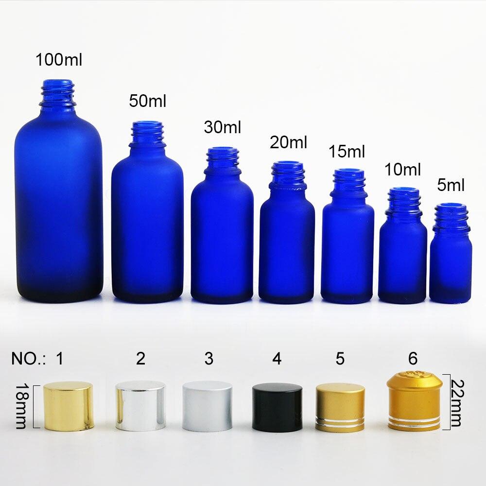 20 x Kobaltblau Milchglas Flasche 5 10 15 20 30 50 100 ml Kosmetische Container manipulationssicheren top kappe reise leeren flasche fläschchen