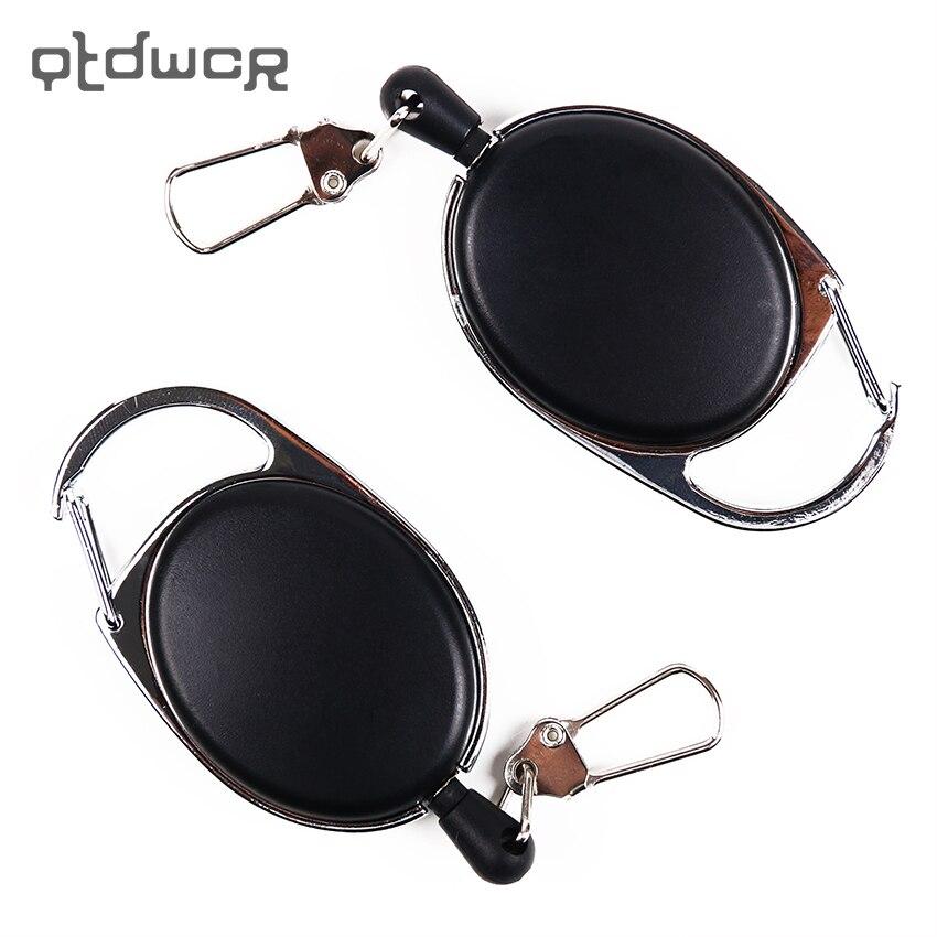 1PC Retractable Pull Badge Reel Zinc Alloy Plastic ID Lanyard Badge Holder Reels Recoil Belt Key Ring Office Supplies