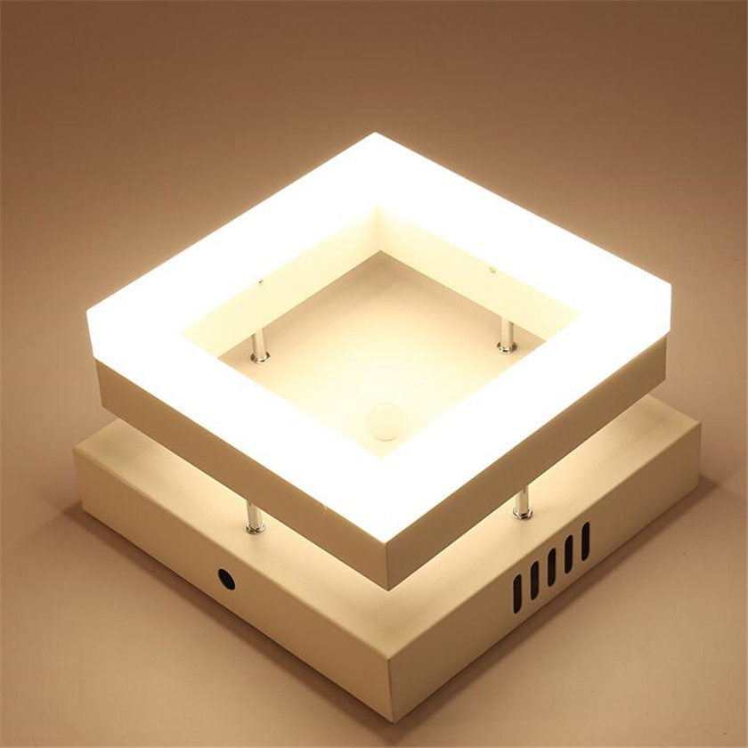 Acrylic Ceiling Lamp 12W Modern Ceiling Lights Metal Light Fixtures Plafon Luminaria Abajur For Hall Entrance Passway Hotel Lamp modern ceiling lights round crystal ceiling lamp led lusters luminaria for balcony entrance lamp plafonnier lighting fixtures
