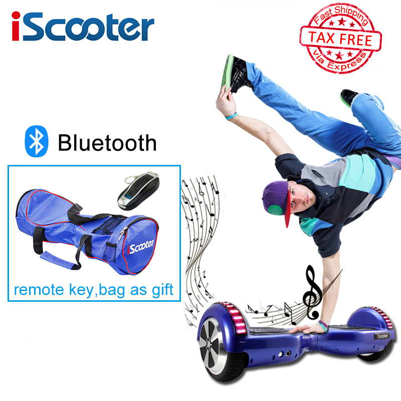 iScooter hoverboard 6.5inch 2 Wheel Smart steering-wheel Electric Skateboardself Balance scooter with Bluetooth Christmas gift