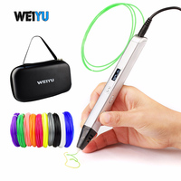 RP800A 3D Professional Printing 3D Pen with OLED Display Generation 3D Drawing Pen for Doodling Art Craft Making and Education|3D Pens| |  -