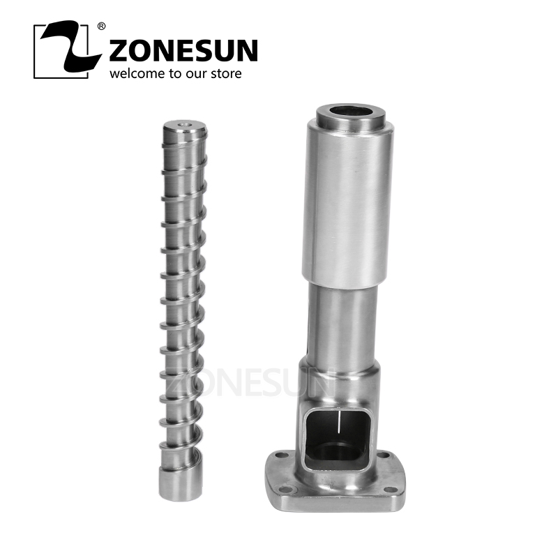 ZONESUN 1 Sets ( Screw Shaft + Press Cage ) For OPM-01 Automatic Small Oil Press Machine Stainless Steel Cold Press Hot Press