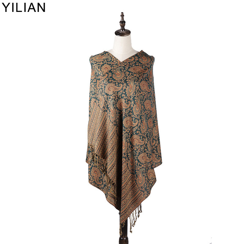 0 23kg YILIAN Brand Retro Print Paisley Women Shawl Autumn and Winter Multicolor Warm Fashion Scarf Women LL008 Top Quality in Women 39 s Scarves from Apparel Accessories