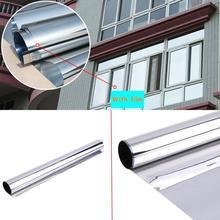16x50 cm 2mil 20% VLT % 90% UV Gümüş Yansıtıcı Ev Yapı Ticari Pravicy Pencere Tonları Filmler Renklendirme Vinil
