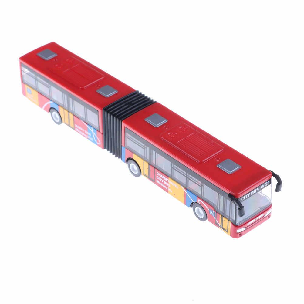 1 adet alaşım turist otobüsü modeli iki kapılı şehir otobüsü oyuncaklar çocuklar için çocuk oyuncakları mavi/kırmızı/yeşil