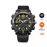 Smart Watch Wifi 720P Camera Watch Outdoor Sport Waterproof IPX7 Smartwatch Men P2P Remote Control With Led Flashlight for Phone