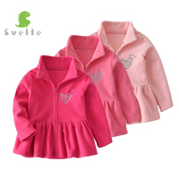 SVELTE For 2 7 Y Kids Girls Fleece Dresses Children Mori Long Sleeve Princess Dress Spring