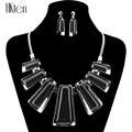 MS20472 Fashion Jewelry Set Gunmetal Plated Black Resin Fashion Design New Arrival Party Gift High Quality Free Shipping