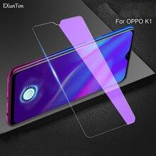 EXUNTON 2.5D Full Cover Anti Blue Tempered Glass For OPPO R9 R9S Plus R9Plus R9SPlus F9Pro F9 F7 F5 K1 A35 Screen Protector Film