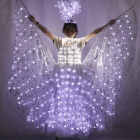 LED Wedding Dress Light Performance Clothing Butterfly Wing Clothing Luminous Dress