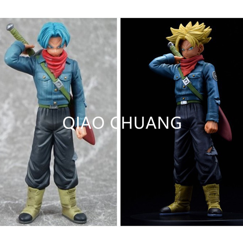 DXF Warrior Super Anime Dragon Ball Z Super Saiyan 2Pcs Trunks PVC Action Figure Collectible Model Toy 17CM RETAIL BOX G191