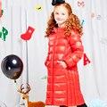 Длинный Жакет Утка Для Детей Dimord Балахон Девушки Зимнее Пальто Roupas Infantis Menina Девочка Снег Пуховик Пальто Детей 60Z006B