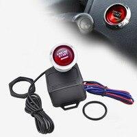 Portable 12V Car Universal Engine Start Push Button Switch Ignition Starter Kit One Key To Start