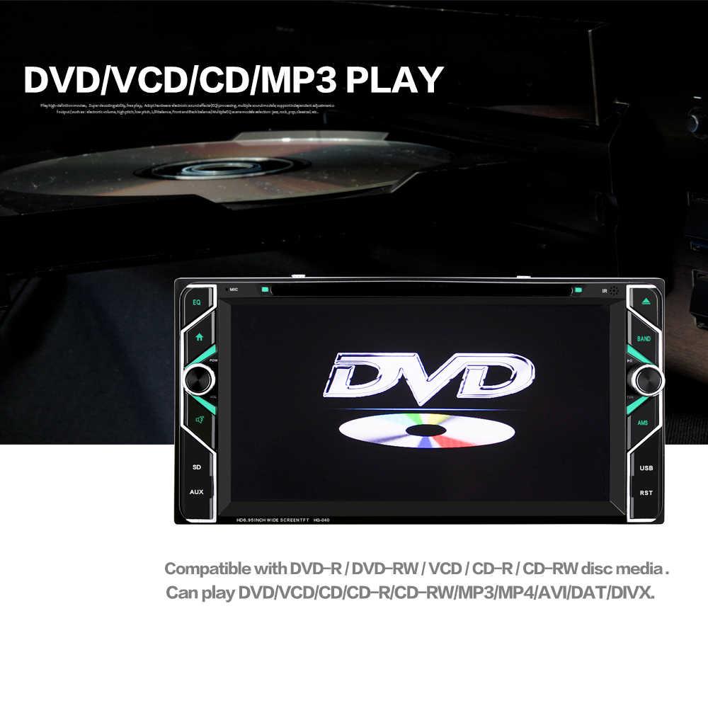 Hevxm/040 6.95 дюйма 2 DIN Сенсорный экран dvd-плеер автомобиля Универсальный Авто Радио стерео Аудиомагнитолы автомобильные видео мультимедийный плеер